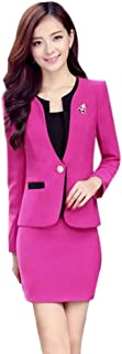 Women's Long Sleeve Business Offcie Suit Skirt Set