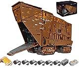 PLEX Modelo de tecnología Sandcrawler, 13168 piezas, Mould King 21009, 2,4 G/aplicación, control remoto de arena UCS MOC, kit de construcción compatible con Lego Star Wars