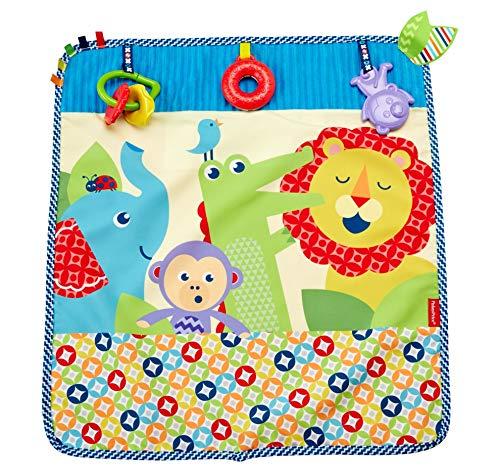 Fisher-Price Mantita activity de paseo, manta de actividades bebé (Mattel DYW52