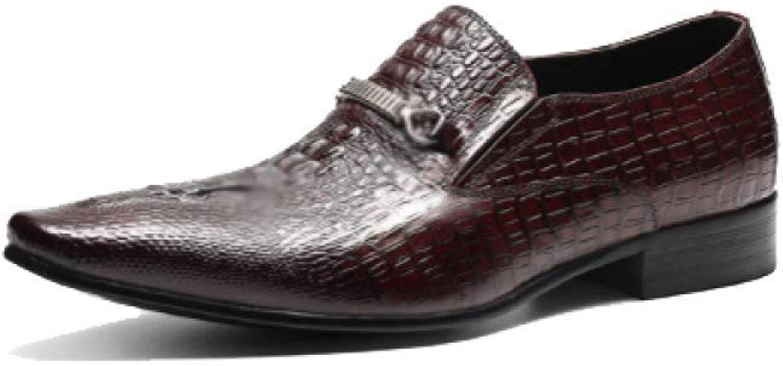 AEYMF Mann's läder läder läder skor England Pointed skor Lazy skor  Njut av att spara 30-50% rabatt