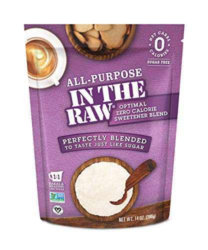 All-Purpose In The Raw Nature's Zero Calorie Sweetener blended to taste just like sugar,14 Oz (Pack of 1)