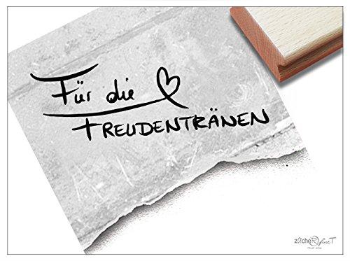 Stempel -Textstempel FÜR DIE FREUDENTRÄNEN Handschrift- Schriftstempel für Glückwünsche zur Hochzeit, Karten Gastgeschenke Tischdeko– von zAcheR-fineT