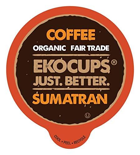 EKOCUPS Artisan Organic Sumatran Coffee Pods, Organic Fair Trade...