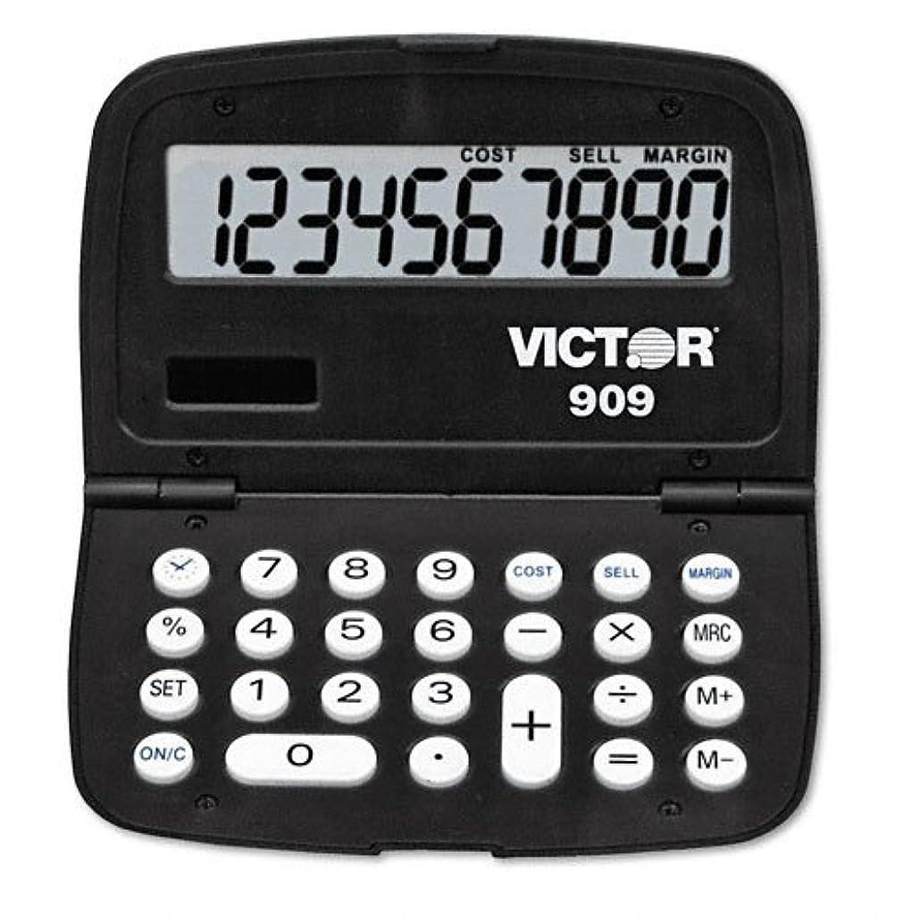 裕福な多数の製油所Victor : 909ハンドヘルド10桁電卓、LCD?–?: -として販売2パックof?–?1?–?/?–?Total of 2?Each