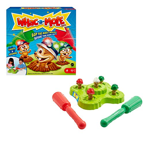 Mattel Games GVD47 - Hau den Maulwurf! Kinderspiel mit Hämmern, Lichtern und Geräuschen, für Kinder ab 4Jahren