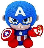 Marvel Ty Capitán América Beanie 6 'Juguete de Peluche
