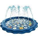 噴水マット 水遊び マット 子供用 おもちゃ プレイマット キッズ 芝生遊び 親子遊び プールマット 夏対策 庭の中に遊び 家族用 シャワ 夏の日 アウトドア 噴水池 噴水できる大型プール 170cm