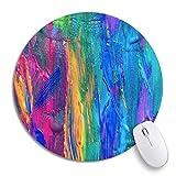 Round Mouse Pad Paint Abstrakt Selbst gemachte Aktion Zusammensetzung Kreativität Effekt...