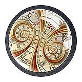 Reloj antiguo de 4 unidades, perillas de ABS para armario de cocina, cajón, manijas de gabinete con tornillos