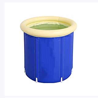 CCDDP Blue Bathtub - Home Bathtub Durable and Easy to Fold to Keep Warm and Inflatable Bathtub Round