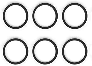 6 PACK Replacement O-rings for Refillable Espresso Capsule,(Black not include capsules))