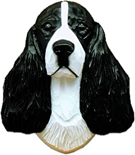 Ky & Co YesKela English Springer Spaniel Head Plaque Figurine Black
