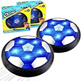TURNMEON 2 Pack Kids Hover Soccer Ball Toys, Air Power Soccer Led Light Foam Bumper Toy for Boys Aged 3-12 Indoor Outdoor Games Sports Football School Supply Holiday Easter Gifts for Boys Girls