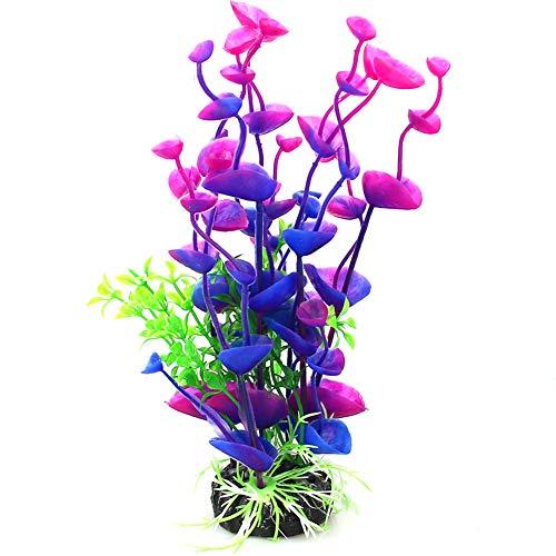 NaiCasy Künstliche Dekoration für Aquarium, Meeresblume, Simulation der Pflanze im Garten Ornament, Unterwasser-Landschaft, Aquarium, Dekoration für Fisch