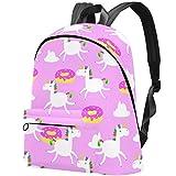 Rucksack für Mädchen und Kinder, Kaninchen und Gras, Büchertasche