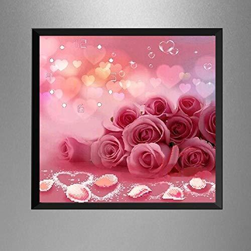 Diamant-schilderij 5D knutselen volle diamanten rond hebben een speciale bel 50 x 50 cm strass borduurwerk kruissteek mozaïek kunst decoratie kindergeschenken