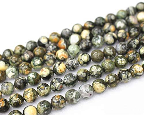 Gros perles en rhyolite naturelle Birdseye, 4 mm, 6 mm, 8 mm, 10 mm, 12 mm, perles en rhyolite Birdseye. 6mm