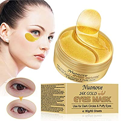 Under Eye Mask, Collagen Eye Mask, 24K Gold Eye Masks,Anti Aging Eye Patches,Hydrogel Under Eye Patches with Collagen,For Brightens & Reducing Wrinkles, Dark Circles, Eye Bags and Puffiness/30 Pairs by Yuntian-store