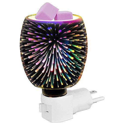 Duftlampe 3D Aromatherapie Heizung Elektrische Duftlicht Aroma Lampe Wachs Schmelzwärmer Brenner Aromatisches Nachtlicht Glas Plugin Duftlampe, Für Home Office Schlafzimmer Wohnzimmer Geschenke