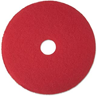 3M 08393 Red Buffer Floor Pads 5100 Low-Speed 18-Inch 5/Carton