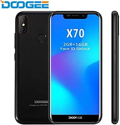 DOOGEE X70 – Smartphone 5.5 Inch Screen, Android 4000mAh Battery, Dual Rear Cameras, Face Detection + Fingerprint 8.0 SIM Free Mobile Phone 2GB/16GB Black