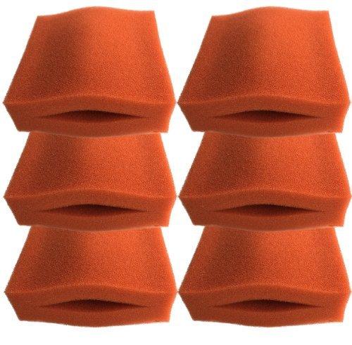Finest-Filters 6 x Mousse Fine pour Oase Biotec 5/10/30 Rouge Filtre de bassin