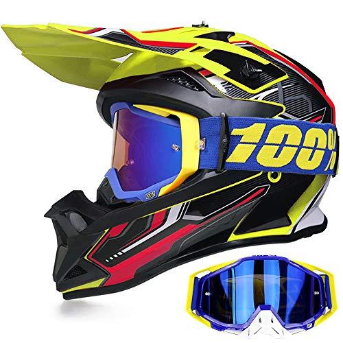 Yase Casco de moto de cross con...