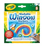 Crayola Washable Window Markers, Window Decorations, Gift, 8 Count (58-8165)