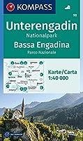 KOMPASS Wanderkarte Unterengadin, Bassa Engadina, Nationalpark, Parco Nazionale 1:40 000: Wanderkarte. GPS-genau.