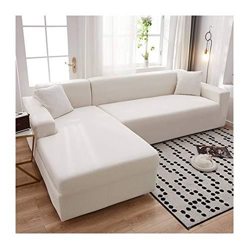 JHLD Fundas para Sillones Sofá En Forma De L, Alta Elasticidad Cubre Sofa Lavable Moda Protector para Sofás para Sala De Estar Mascota-F-Medium + Large