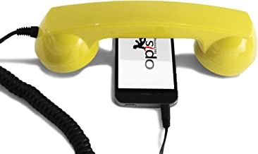 OPIS 60s Micro: Retro handset/Vintage handset/Retro Receiver/Mobile handset for iPhone, Galaxy, Huawei and All Modern Smartphones (Yellow)