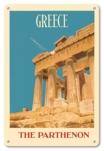 Pacifica Island Art 8x12 Cartel de Chapa Vintage-Grecia-The