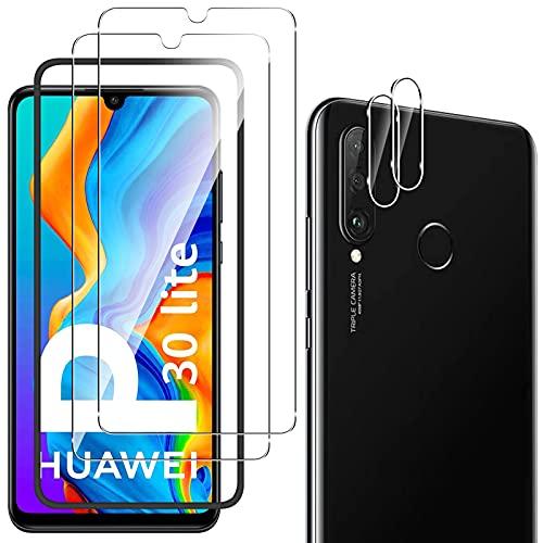 Pellicola Vetro Temperato per Huawei P30 Lite/Huawei P30 Lite New Edition, Trasparente ad Alta Definizione Pellicola Anti-graffio per Huawei P30 Lite / P30 Lite New Edition - [2Pezzi]