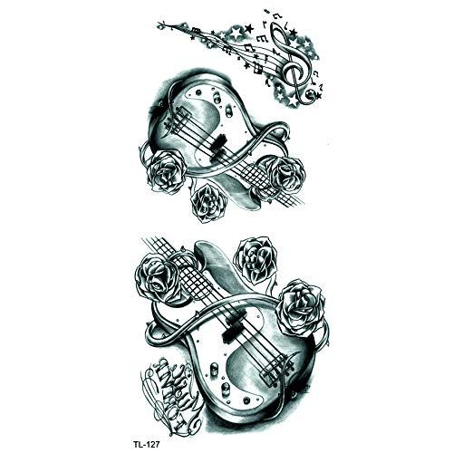 LBBMBC Violine wasserdicht temporäre Tätowierung Mann Musik Henna Tattoo Aufkleber Schönheit Violine Kind Tattoo Mädchen