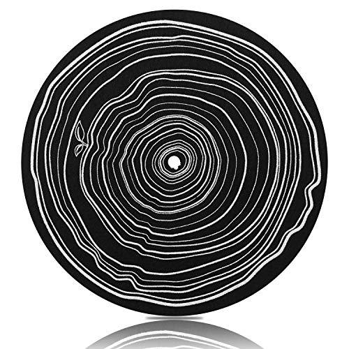 Turntable Mat for Vinyl LP Record Players,LP Slip Mat 7.8-inch Diameter Anti Static, Vibration Dampening,Enhance Sound Performance