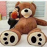 Orsacchiotto Gigante XXL, Teddy Bear Orso Enorme Giocattolo Regalo Regalo Compleanno Natale Bambino Feste (Marrone, 130cm)
