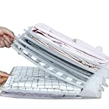 Velidy, organizer per camicie e magliette, confezione da 5 pezzi, impilabile per magliette, documenti, vestiti da viaggio