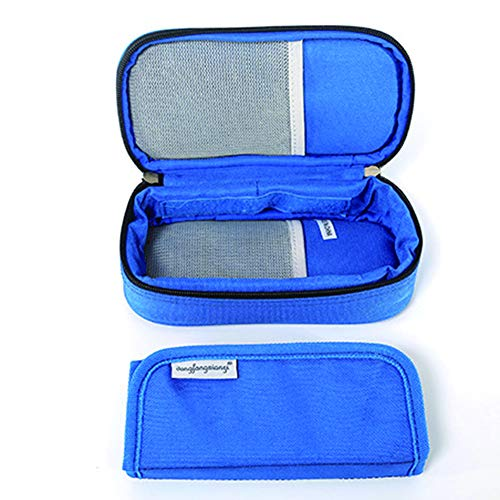 FafSgwq Portable Diabetic Insulin Injector Protector Fall Travel Kühltasche Ice Packs Hausgarten Schwarz