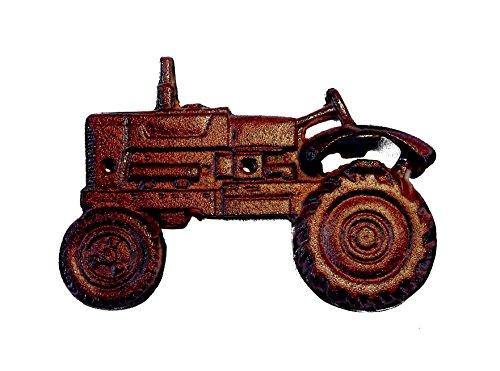 Crispe home & garden Flaschenöffner Traktor zum Anbringen an Wand, Haus, Flur. komplett aus Gusseisen