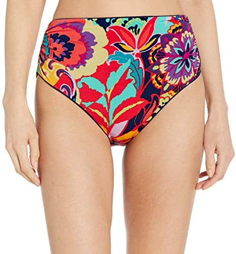 TAHARI Women s Ruched Transformable High Waist Bikini Bottom Swimsuit Paris Floral X Large product image