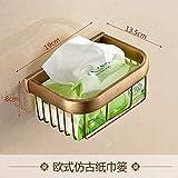 ZTMN Juego de toallero Colgante de baño Europeo Antiguo de Cobre, Accesorios de baño de Cobre Puro, Juego de toallero, Cesta de Papel