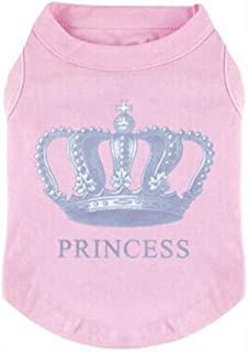 EXPAWLORER Princess Fashion Pet T-Shirt Small Dog Cat Vest Clothes Puppy Costumes for Chihuahua Yorkshire Terrier Pink M