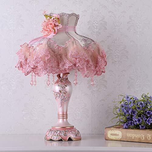 DULIMEI Europees bedlampje prinses decoratie tafellamp hars slaapkamer mode top decoratie lamp romantische kristal warme bruiloft lief bedlampje