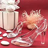 3 zapatos de cristal transparente, zapatilla de cristal de Cenicienta, disponible en 2 tamaños, bombonera con diseño de princesas Disney para niña (estándar con paquete celeste)
