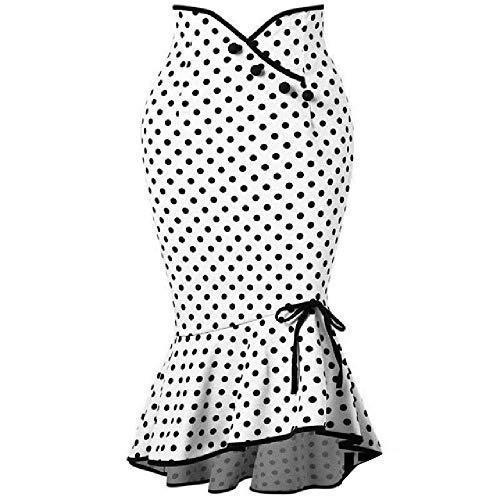 Faldas Mujer Primavera S Casual Cintura elástica Tallas Grandes Sirena Sirena Dobladillo Volantes Falda Verano Moda Dama Club Faldas