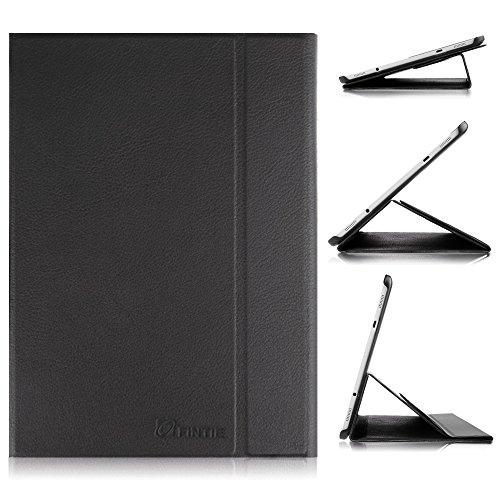 Fintie Hülle für Samsung Galaxy Tab S2 9,7 Zoll Tablet-PC - Ultra-schmaler Flip Folio Book Cover Schutzhülle mit Auto Schlaf/Wach Funktion, Schwarz