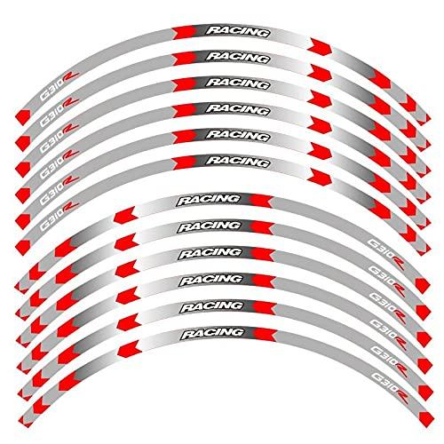 para B-M-W G310R G310 R Pegatinas De Borde Exterior De Motocicleta Ruedas Borde De Película Calcomanías Reflectantes Pegatina De Decoración De Neumáticos (Color : 6)