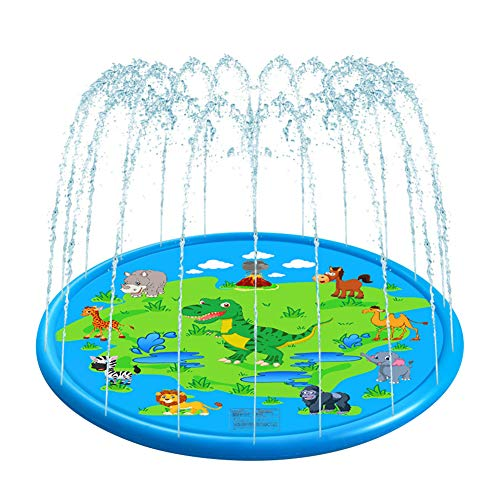 VOLADOR Kids Sprinkler Pool, 68' Toddler Water Play Pad, Summer Water Spray Play Mat Outdoor Inflatable Wading Pool for Children Boys Girls