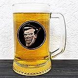 Joker Beer Mug - Glass Beer Stein - Batman Animated Series Gift - Groomsman Beer Mug - Gift For Him - Personalized Beer Mug Glass - Gift For Men Who Have Everything