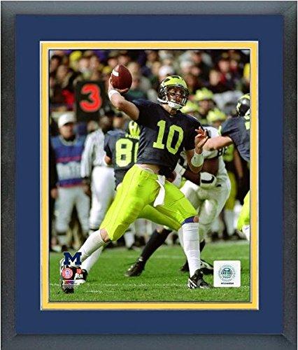 Tom Brady Michigan Wolverines NCAA Action Photo (Size: 12.5' x 15.5') Framed